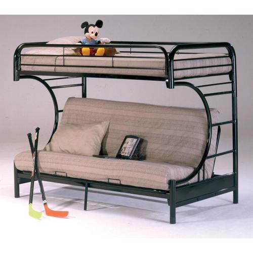 Bernards - Banner Twin over Full Futon Metal Bunk Bed