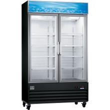 Digital Cabinets Glass Door Merchandiser, 27 cu.ft, Black