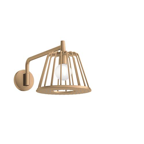 Brushed Bronze LampShower 275 1jet with shower arm