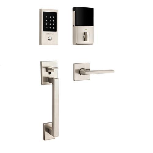Satin Nickel Minneapolis Touchscreen Keyless Entry Handleset