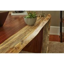 Live Edge Waterfall Desk Detail