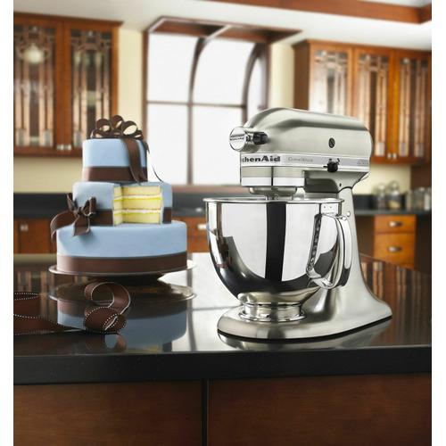 Gallery - Custom Metallic® Series 5 Quart Tilt-Head Stand Mixer - Brushed Nickel