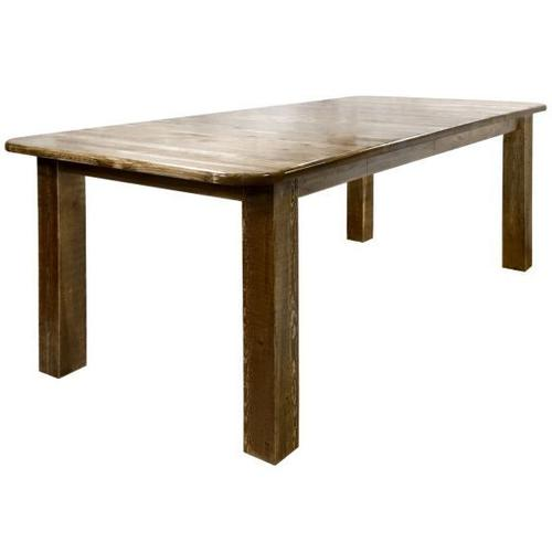 Montana Woodworks - Homestead Collection 4 Post Dining Table w Leaves, Stain and Lacquer Finish