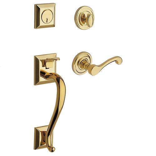 Baldwin - Lifetime Polished Brass Madison Sectional Trim