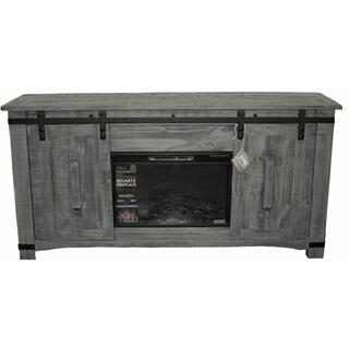"See Details - 70"" Charcoal Barn Door Tv/fireplace"