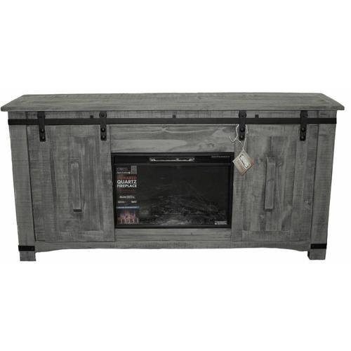 "Million Dollar Rustic - 70"" Charcoal Barn Door Tv/fireplace"