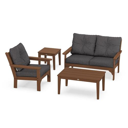 Vineyard 4-Piece Deep Seating Set in Teak / Ash Charcoal