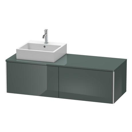 Duravit - Vanity Unit For Console Wall-mounted, Dolomiti Gray High Gloss (lacquer)