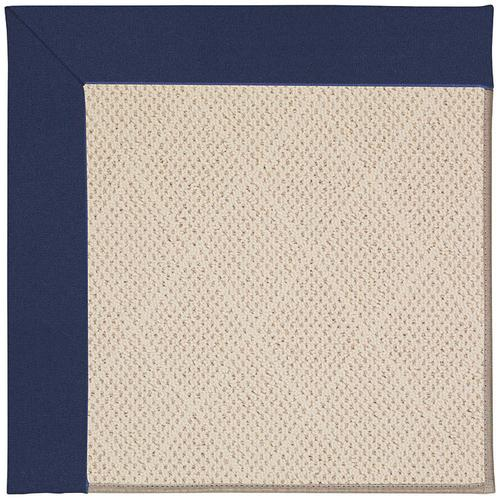 Creative Concepts-White Wicker Canvas Royal Navy Machine Tufted Rugs