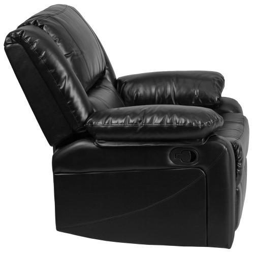 Alamont Furniture - Black Leather Recliner