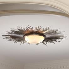 See Details - Sunburst Light Fixture-Nickel