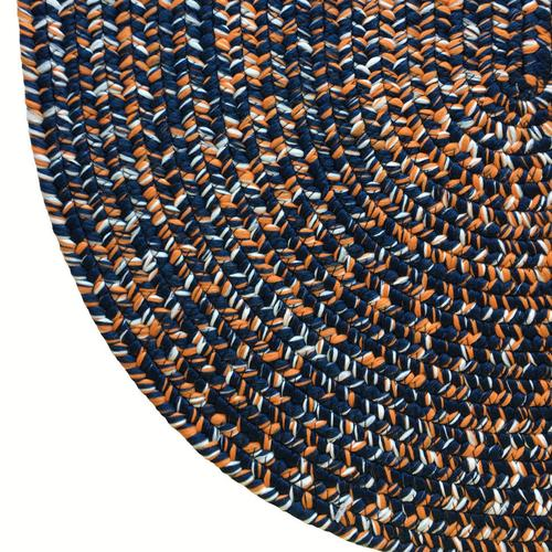 Team Spirit Navy Orange Braided Rugs