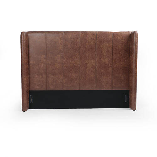 King Size Vintage Tobacco Cover Dixon Headboard