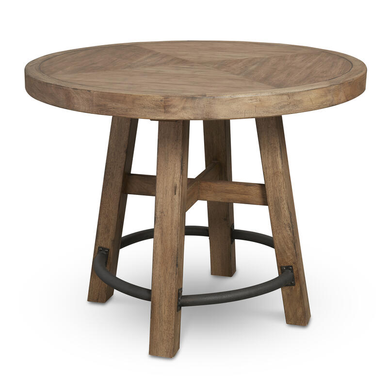 Round Bar Table Wood Top in Blonde