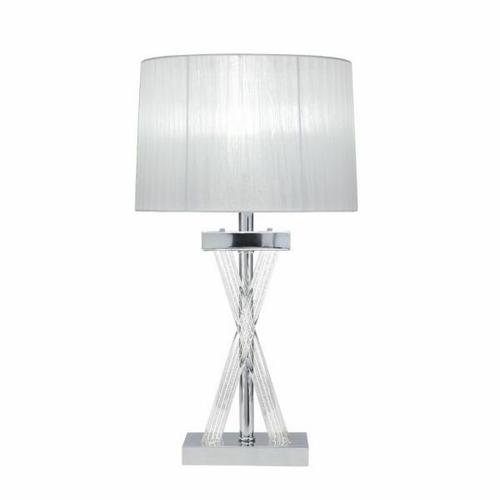 ACME Mallory Table Lamp - 40342 - Glam - LED Light, Clear Acrylic, Metal, Shade - Acrylic and Chrome