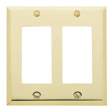 See Details - Polished Brass Beveled Edge Double GFCI