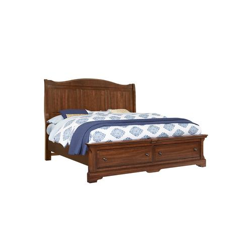 Artisan & Post Solid Wood - Sleigh Bed with Storage Footboard