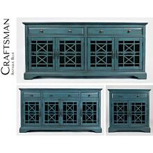 "Craftsman 70"" Media Unit - Antique Blue"