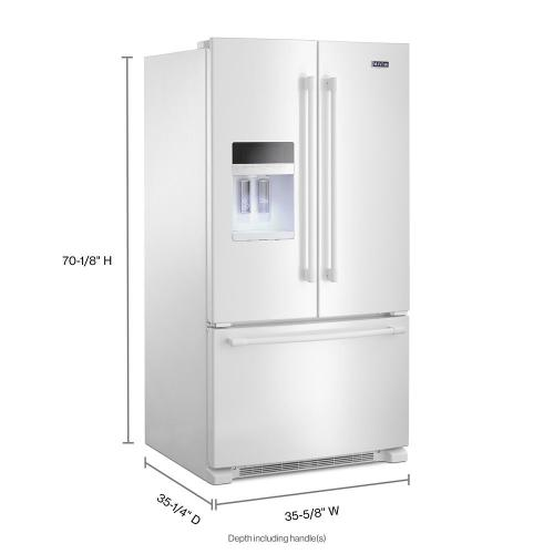 Maytag Canada - 36- Inch Wide French Door Refrigerator with PowerCold® Feature - 25 Cu. Ft.