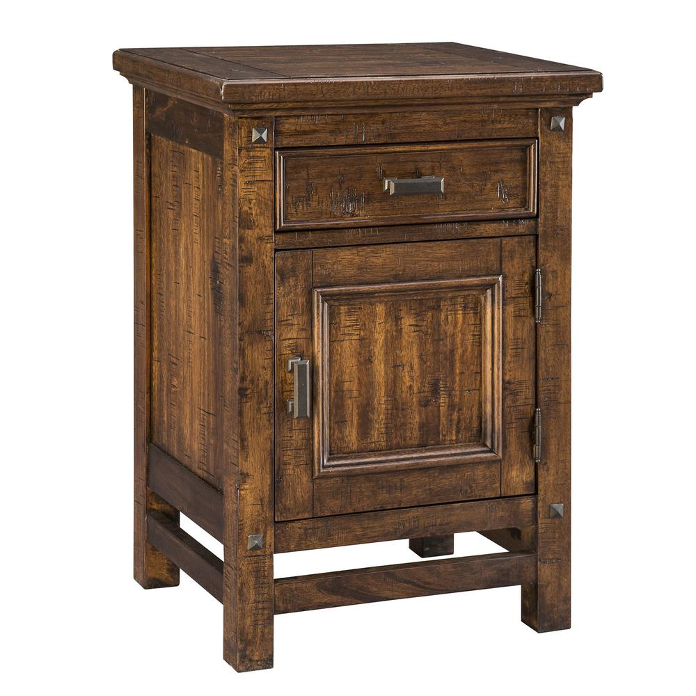 Wolf Creek 1 Drawer Nightstand