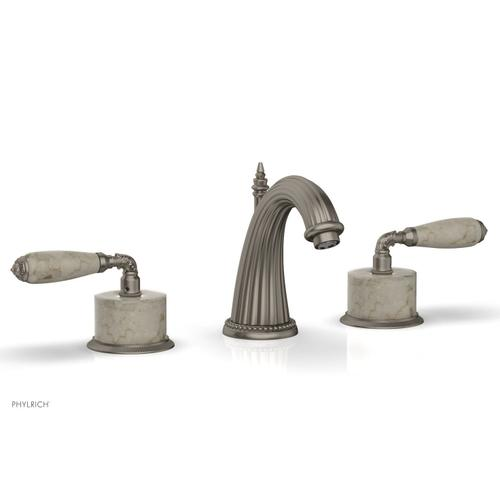 VALENCIA Widespread Faucet Beige Marble K338D - Pewter