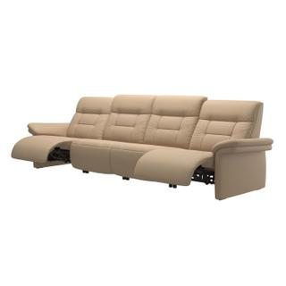 See Details - Stressless® Mary arm upholstered 4 seater with 2 Power PDDP