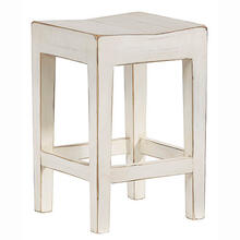 Counter Stool- 2/CTN - Antique White Finish