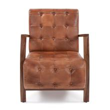 See Details - Davenport Tufted Leather Chair