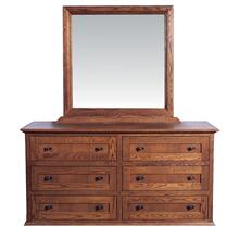 See Details - Forest Designs Mission Six Drawer Dresser: 60W x 32H x 18D (No Mirror)
