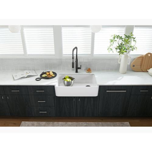 Ice Grey Undermount Single-bowl Farmhouse Kitchen Sink