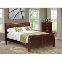 West Furniture Louis Philippe 2 Piece Queen Size Bedroom Set in Phillip Walnut Finish with Queen Bed, Chest