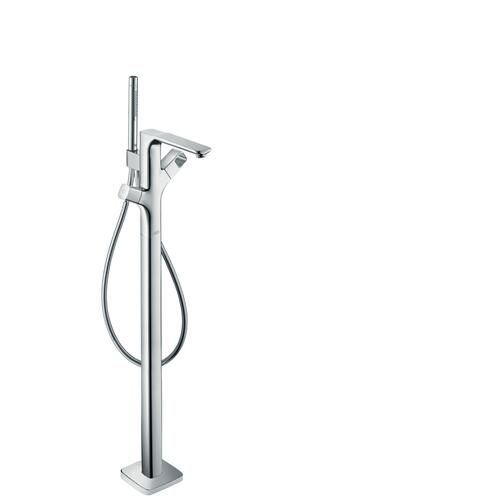 Brushed Nickel Bath thermostat floor-standing