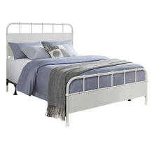 Grayson King Metal Headboard With Frame, Textured White