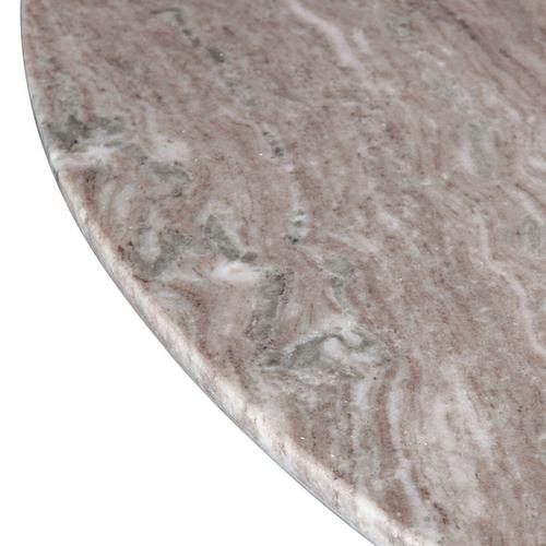 """Palm Springs 48"""" Round Dining Table Brown Lajaria Marble, Cafe Base"""