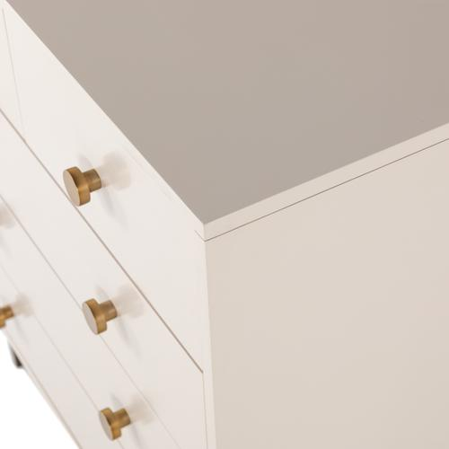 Matte Alabaster Finish Van 5 Drawer Dresser