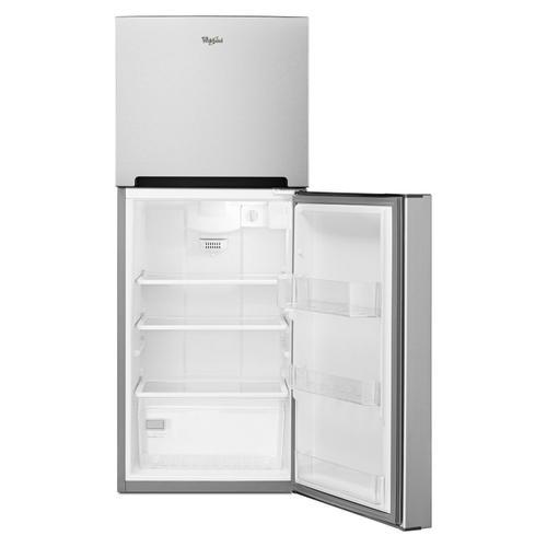 Whirlpool - 25-inch Wide Top Freezer Refrigerator - 11 cu. ft. Monochromatic Stainless Steel