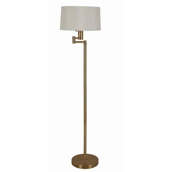 Transitional Brass Floor Lamp