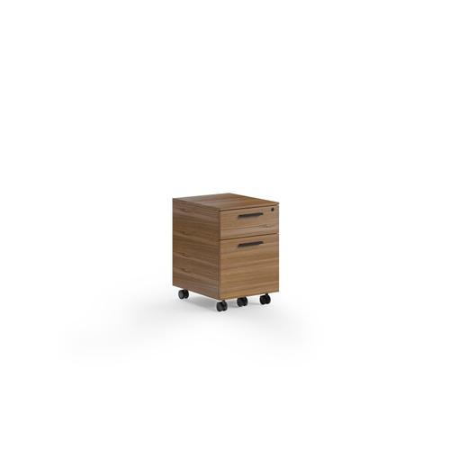 BDI Furniture - Linea 6227 Mobile File Pedestal in Natural Walnut