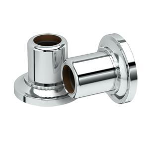 Tiara Shower Rod Ends in Chrome Product Image