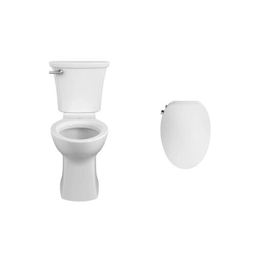 American Standard - Edgemere Elongated Toilet with AquaWash 2.0 Bidet Seat Bundle - White