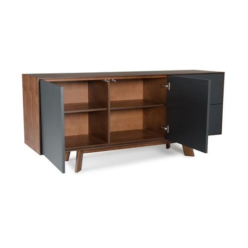 VIG Furniture - Modrest Weylyn Modern Charcoal Grey & Walnut Buffet