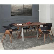 See Details - Drake/Holt 7pc Dining Set, Walnut/Charcoal