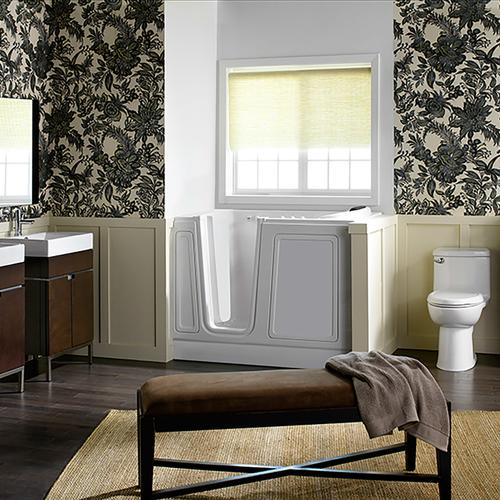 Luxury Series 30x51-inch Walk-In Tub  Combo Massage Tub  American Standard - White