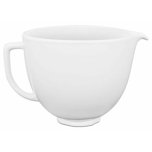 KitchenAid - 5 Quart White Chocolate Ceramic Bowl
