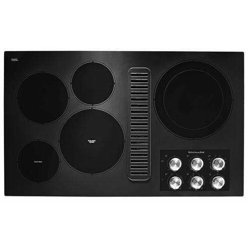 """KitchenAid Canada - 36"""" Electric Downdraft Cooktop with 5 Elements - Black"""
