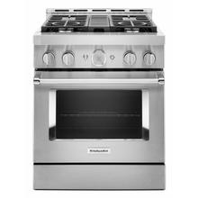 See Details - KitchenAid® 30'' Smart Commercial-Style Gas Range with 4 Burners - Heritage Stainless Steel
