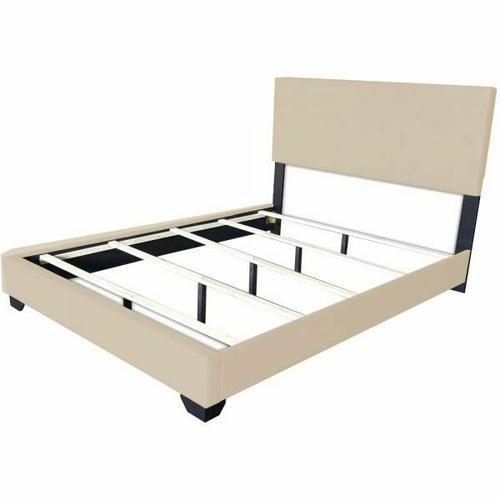 ACME Ireland III Eastern King Bed (Panel) - 24277EK - Beige PU