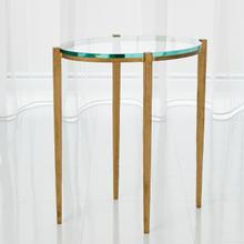 See Details - Petite Oval Accent Table-Antique Gold
