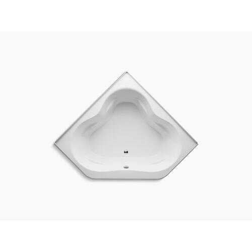 "White 60"" X 60"" Bath With Integral Apron and Integral Flange and Center Drain"