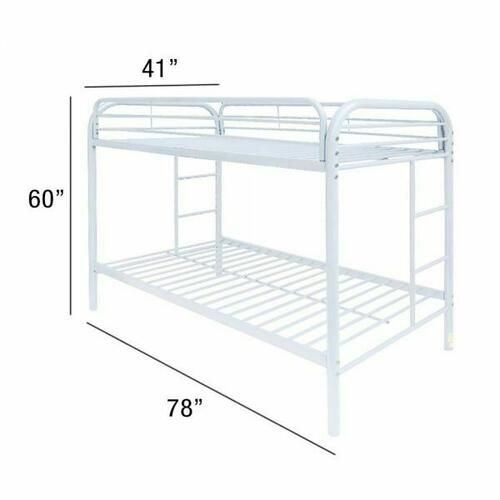 ACME Thomas Twin/Twin Bunk Bed - 02188WH - White
